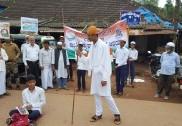 ಭಟ್ಕಳ: ಶಾಂತಿ ಮಾನವೀಯತೆಗಾಗಿ ಶಮ್ಸ್ ಪ್ರೌಢಶಾಲಾ ವಿದ್ಯಾರ್ಥಿಗಳಿಂದ ಬೀದಿ ನಾಟಕ