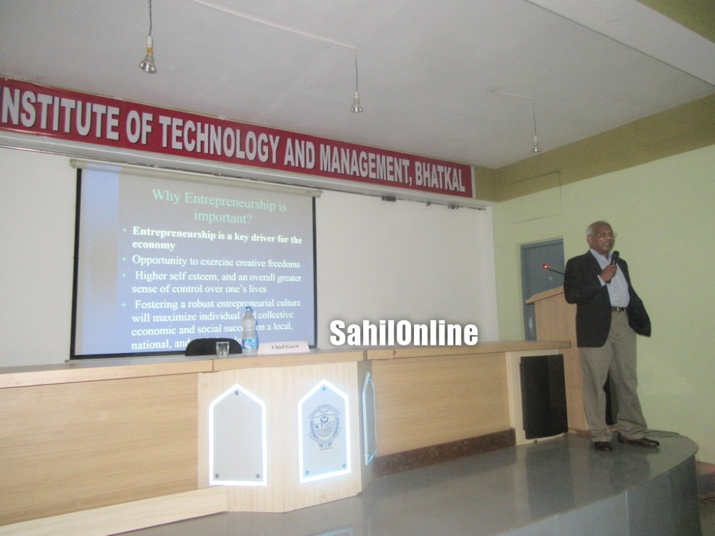 Entrepreneurship programme held in AITM, Bhatkal