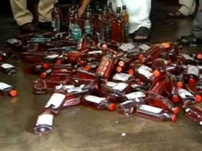Goan liquor seized during a raid in Karwar