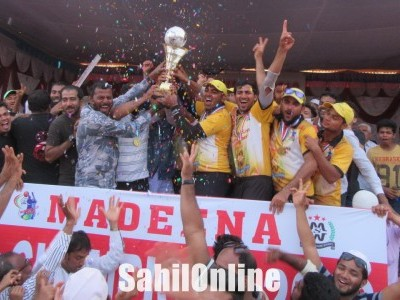 Bhatkal: Madeena outclassed Aazad with an easy win to bag Madeena Cup