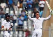 Ashwin's late strikes bring India back after Jennings's ton