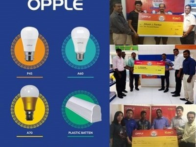 OPPLE Lighting Announces Monthly Winners for 'Become A Millionaire' Offer
