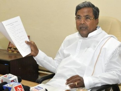 BJP submits complaint against Karnataka CM Siddaramaiah for terror jibe