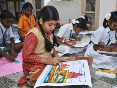 Competitions for children in Karwar