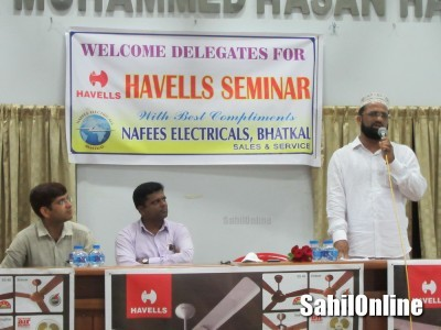 Havells Seminar Organized by Nafees Electricals at Rabita Hall Bhatkal