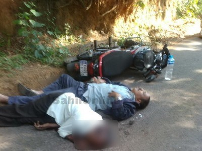 Uttara Kannada; One killed another injured when an unknown vehicle hit their bike and fled in Joida