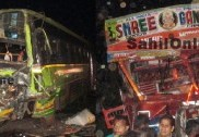 Ten hurt as lorry rams KSRTC bus in Bhatkal; misses a huge tragedy