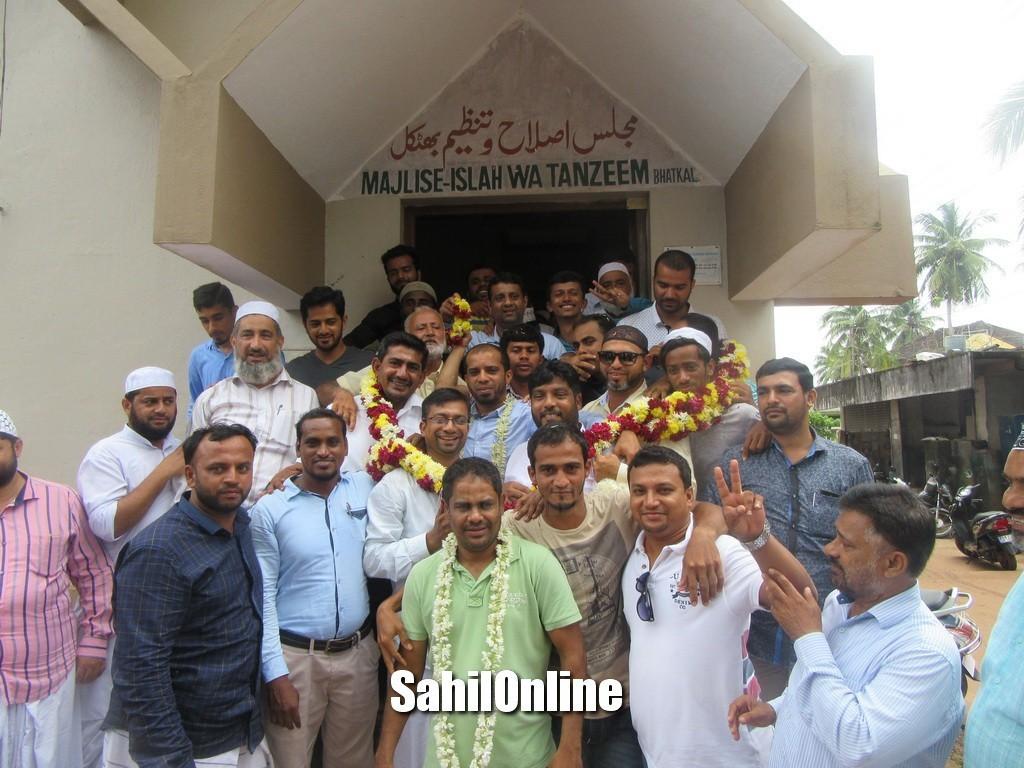 Tanzeem nominates Imran Lanka and Shameem Banu for prez and Vice prez candidates for Bhatkal Jali Town Panchayat