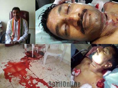 کروپاڑی کے عبدالجلیل کے قاتلوں کی گرفتاری نہ ہونے پرناراض کانگریسی کارکنان کا ضلع دکشن کنڑا نگراں کار وزیرکاگھیراؤ