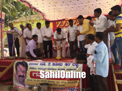 MLA Mankal Vaidya lays foundation for Rs 2.40 cr worth for port development projects