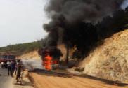 Fire turns borewell truck to ash in Kumta