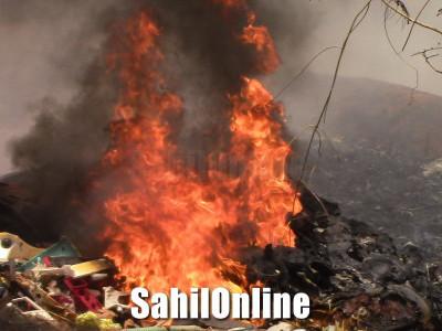 Fire in Bhatkal Moogli Honda
