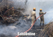 Scrap shop gutted in fire at Bhatkal