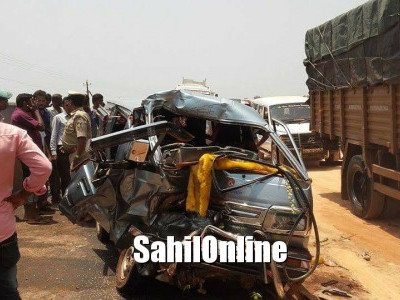 1 killed, 7 injured as Omni collides with Bolero pickup at Kumta
