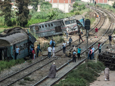 44 killed in Egypt train collision, 179 injured