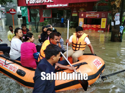State Disaster Force rescue residents; Heavy Rain in Bengaluru