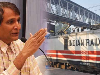 Railway minister Suresh Prabhu lays foundation stone for doubling work at Mangaluru Central station