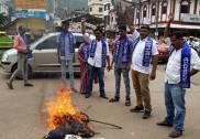کاروار: بی جے پی ترجمان ڈاکٹر امبیڈکر کو ملک غدار کہنے پر امبیڈکر سینا کا احتجاج : میمورنڈم اور پتلا نذر آتش