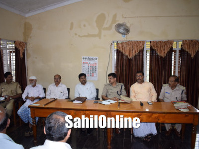 Peace meeting for Ganesh festival held in Bhatkal