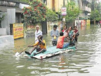 یو پی میں سیلاب 69ہلاک،20لاکھ بے گھر،دو لڑکیاں تالاب میں غرق