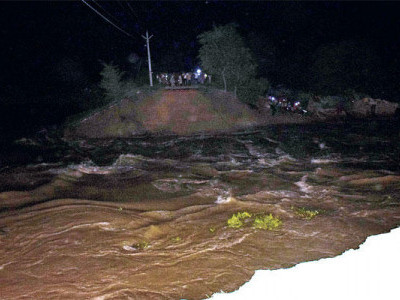 مظفر پور میں راجواڑاباندھ ٹوٹا،کئی علاقوں میں آیا سیلاب کا پانی
