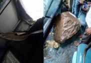 Three passengers hurt as boulder falls on Hubli-LTT Express train near Lonavla