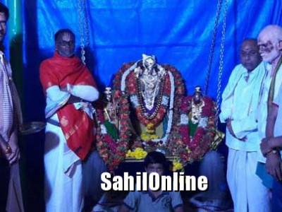 ಕೋಲಾರ: ಲಕ್ಷ್ಮೀ ವೆಂಕಟರವಣಸ್ವಾಮಿ ದೇವಸ್ಥಾನದಲ್ಲಿ ಪಂಚಾಮೃತಾಭಿಷೇಕ