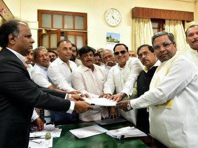 Cong Leader Ibrahim files nomination for upper House bypoll