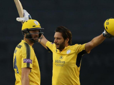 Shahid Afridi's ton helps Hampshire beat Derbyshire by 101-run in NatWest T20 Blast