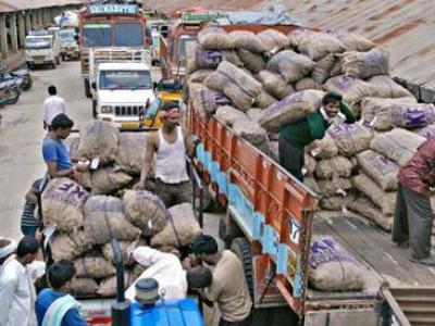 کسانوں کو فصل کے عوض آن لائن ادائیگی کی شرط کی مخالفت، ریاست بھر میں اے پی ایم سی کا کاروبار بند