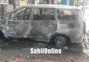 Kumta: Right wing protestors pelt stones at police, set IGP's car on fire