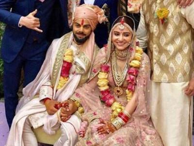 اداکارہ انوشکا شرما اور کرکٹر وراٹ کوہلی کی شادی