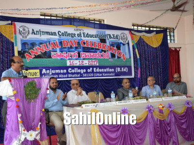 Bhatkal: Anjuman college of Education celebrated its Annual day