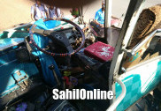 منگلورو میں بس اور لاری کے درمیان خطرناک تصادم ؛ ایک خاتون ہلاک؛ 17 زخمی