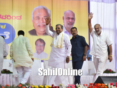 Karnataka CM Siddaramaih Inaugurates Development works in Yellapur Constituency