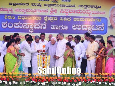 CM Inaugurates Development works in Sirsi-Siddapur Constituency