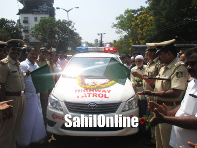 TMC President Sadique Matta flag off the highway patrolling vehicle in Bhatkal