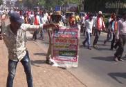 مینگلور میں ہم آہنگی ریالی میں کیرالہ کے وزیراعلیٰ کی شرکت کے خلاف زبردست احتجاجی مظاہرہ