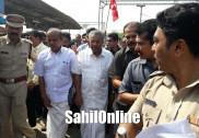ہندو شدت پسند تنظیموں کے احتجاج کے بائوجود کیرالہ کے وزیراعلیٰ پینرائی وجیئن کی مینگلور آمد؛ ٹرین سے پہنچے مینگلور