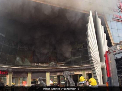 Several trapped as fire breaks out at luxury hotel in China