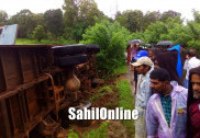Bus toppled in Sirsi; More than 30 injured