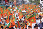 BJP workers stage protest against killing of pro-hindu activists
