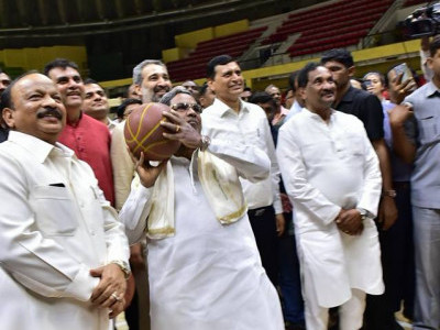 Renovated Sri Kanteeerava Indoor Stadium was inaugurated by Chief Minister Siddaramaiah
