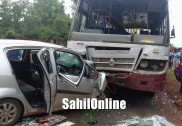 کمٹہ میں کار اور بس کے درمیان بھیانک تصادم؛ تین ہلاک؛ چار زخمی  (اپڈیٹیڈ نیوز)