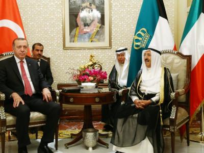قطری بحران، ترک صدر سعودی عرب کے بعد کویت پہنچ گئے