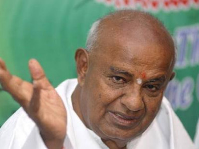 BJP protest politically motivated: H D Deve Gowda
