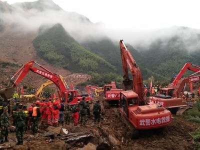 China landslide: Around 100 people feared buried in, says authorities
