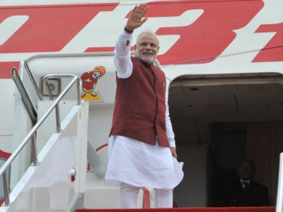 Modi embarks on three-nation tour