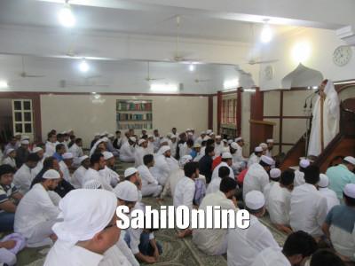 Maulana Jafar Faqui Bhaw Nadvi led Eid Ul Fitr Namaz in Ahmed Sayeed Jumma Masjid Bhatkal