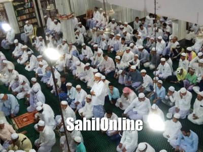 Maulana Zakriya Nadvi led Eid Ul Fitr Namaz in Madeena Jumma Masjid Bhatkal